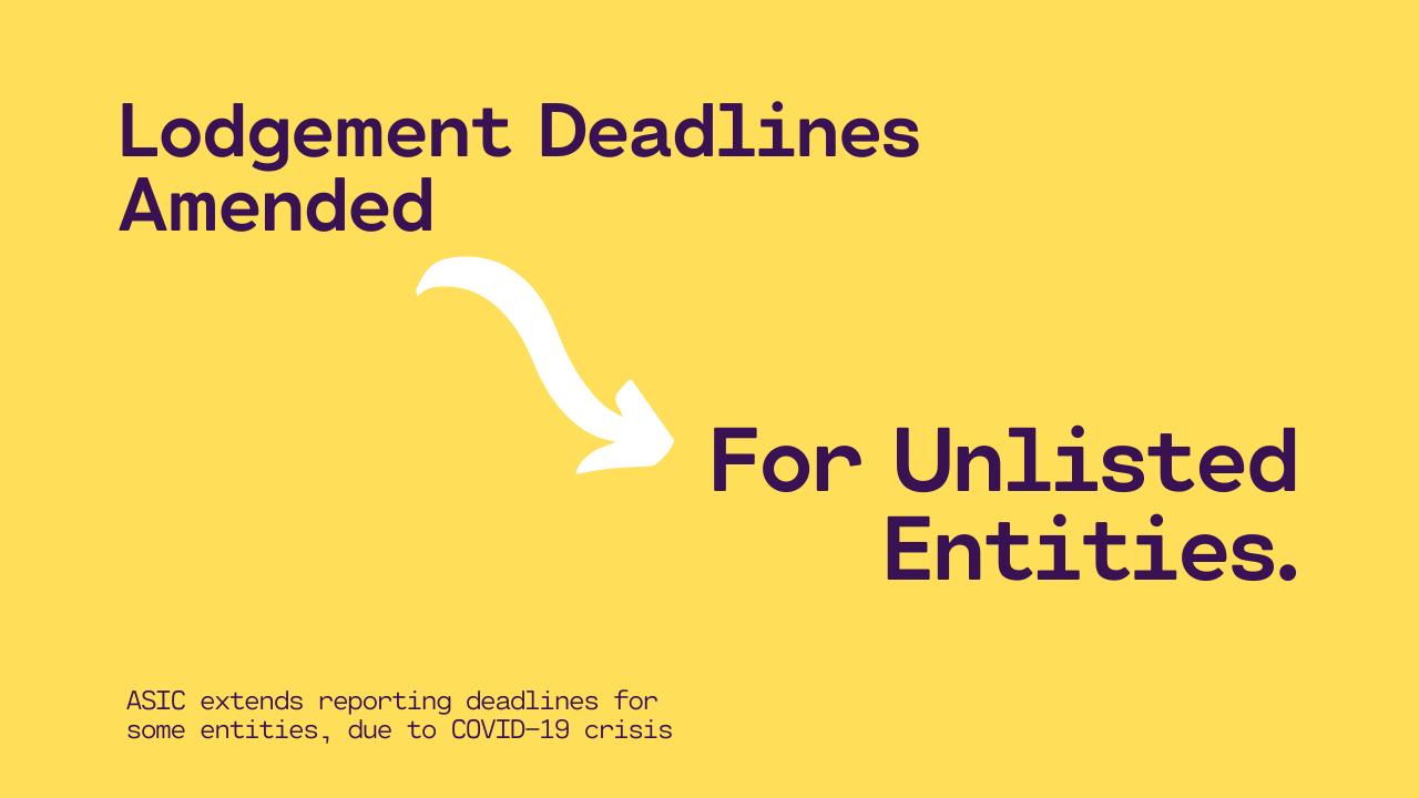 Lodgement deadlines extended