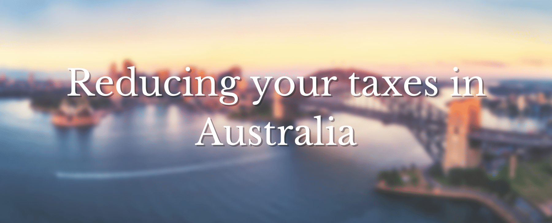 How do high income earners reduce taxes in Australia