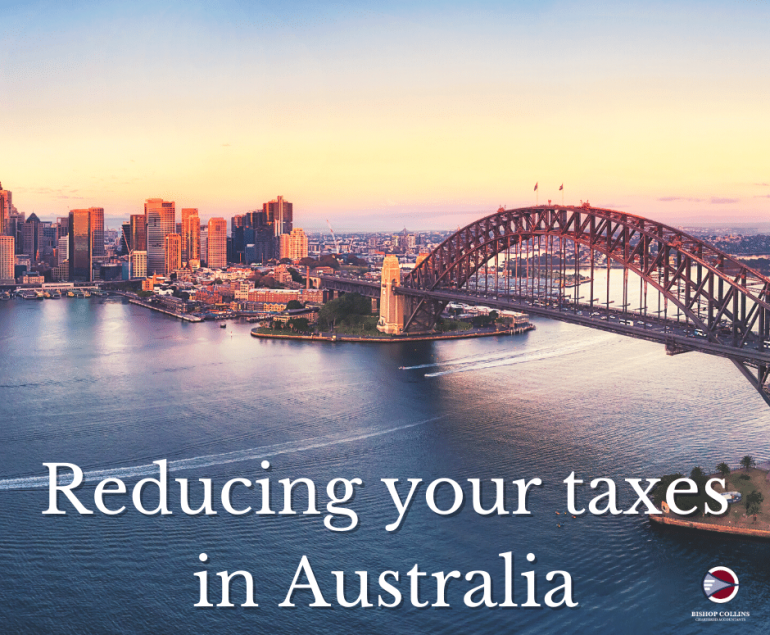 reducing your tax in Australia