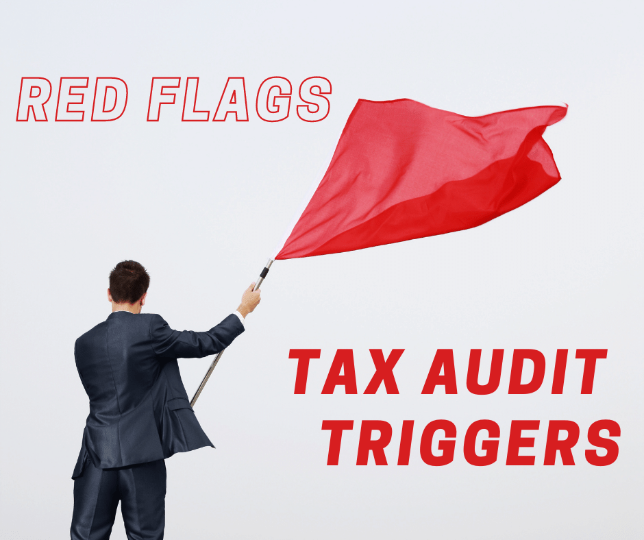 Red Flags tax audit man and flag
