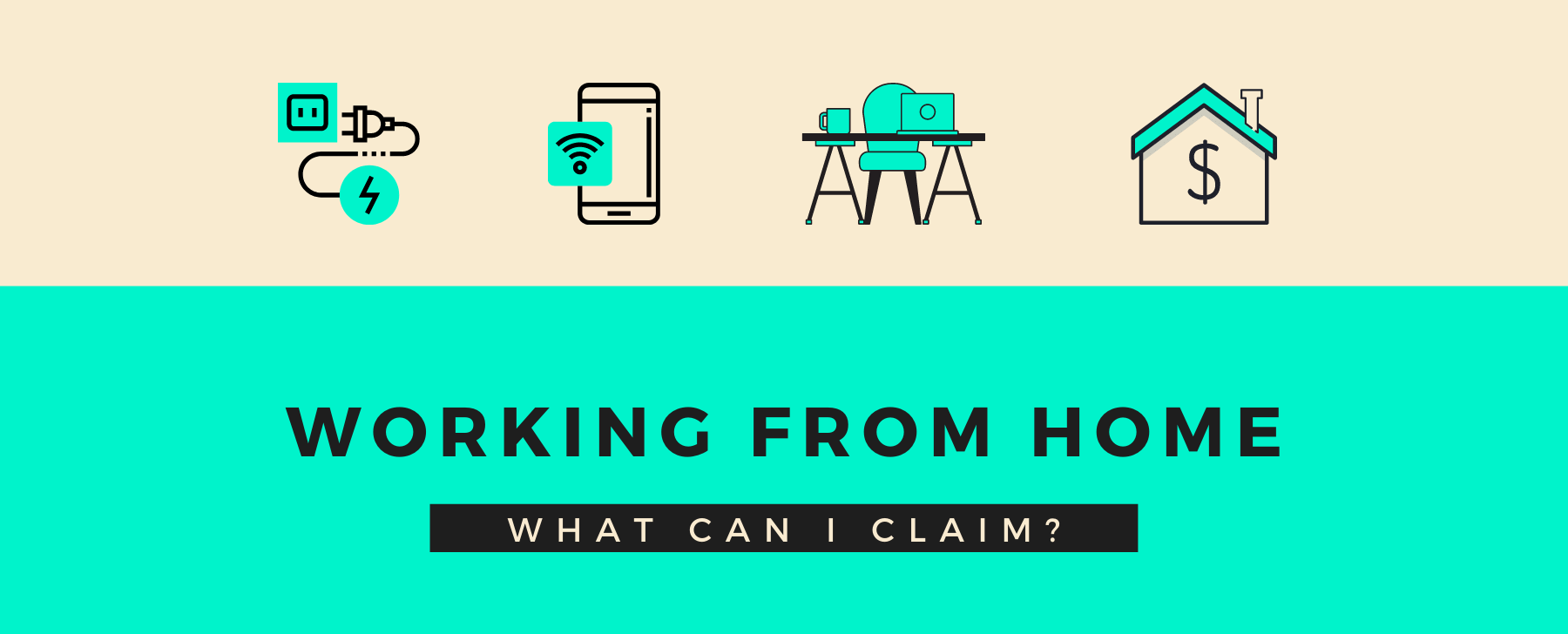 working from home deductions and icons of things you can claim for deductions