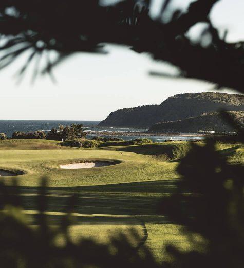 golf course on the coast