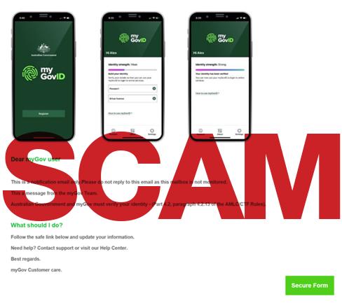 Scam alert - update your myGovID details