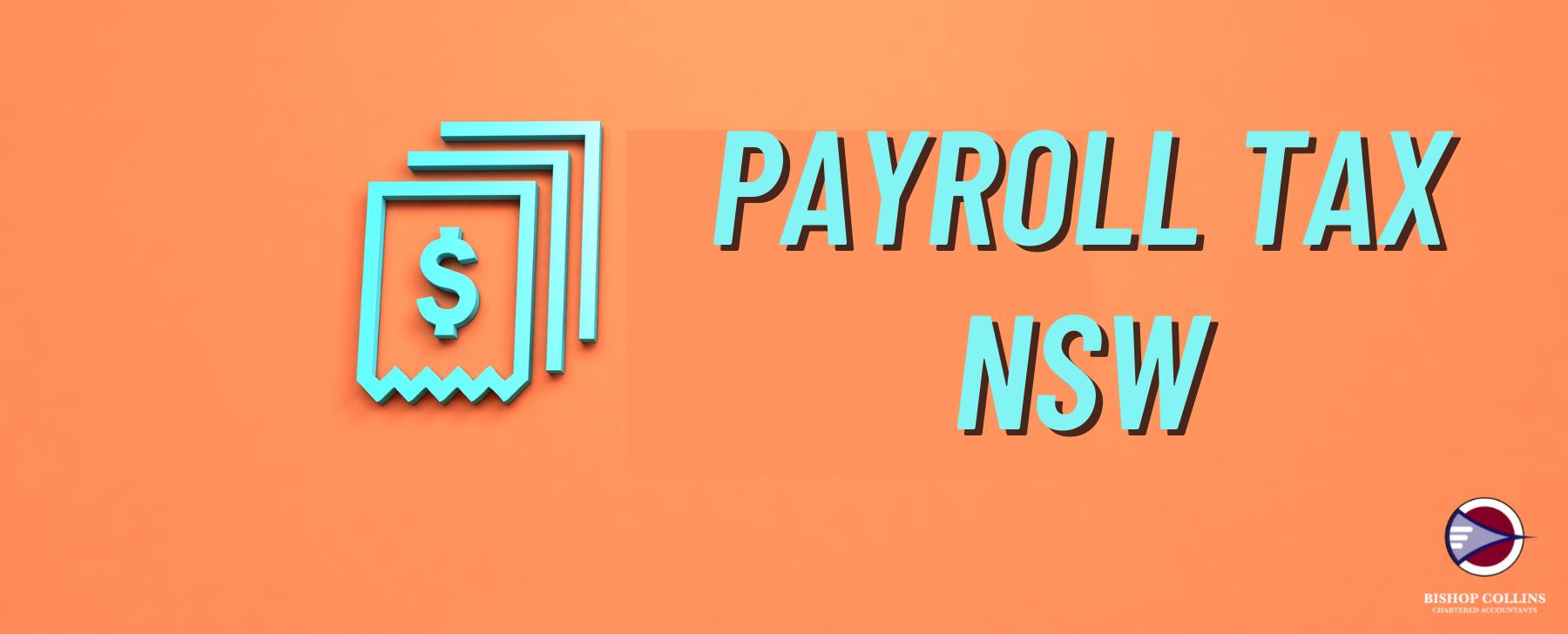 payroll tax nsw on an orange background
