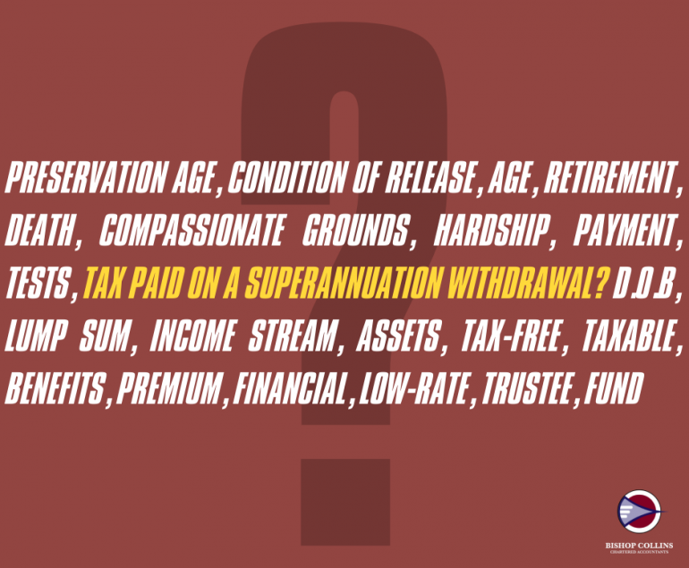 superannuation withdrawal tax rate